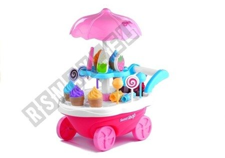 Eisdiele 30 Elemente Sound&Licht Süßigkeiten Konditorei Kaufladen Spielzeug
