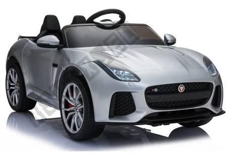 Elektroauto Jaguar F-Type Silbern lackiert EVA-Reifen Ledersitz Auto