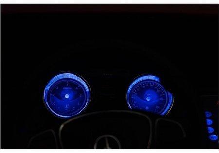 Elektroauto Mercedes X Blau lackiert EVA-Reifen Ledersitz Kinderfahrzeug