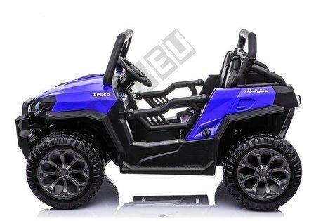 Elektroauto WXE-8988 Blau EVA-Reifen Ledersitz LED Frontscheinwerfer 2.4G Auto
