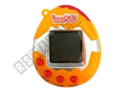 Elektronisches Tier Anhänger Tamagotchi Haustier Orange