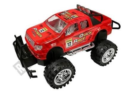 Fahrzeug Set Monster Truck mit einem Abschleppwagen Rot