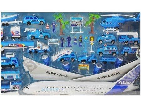 Flughafen Flugzeug 30 Elemente Hubschrauber Aircraft großes Set für Kinder Auto