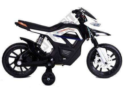 JT5158 Elektromotorrad für Kinder - Weiß Fahrzeug LED Frontscheinwerfer