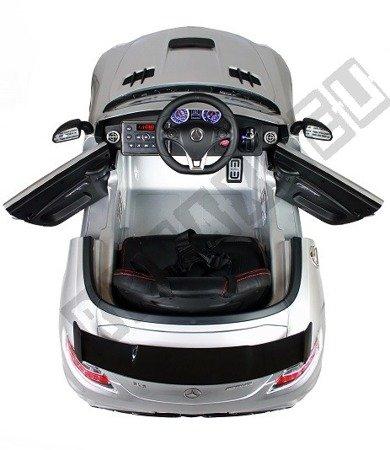 Kinderauto MERCEDES SLS AMG lackiert Elektroauto Kinderfahrzeug Ledersitz Grau lackiert