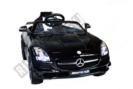 Kinderauto MERCEDES SLS AMG lackiert Elektroauto Kinderfahrzeug Ledersitz Schwarz lackiert