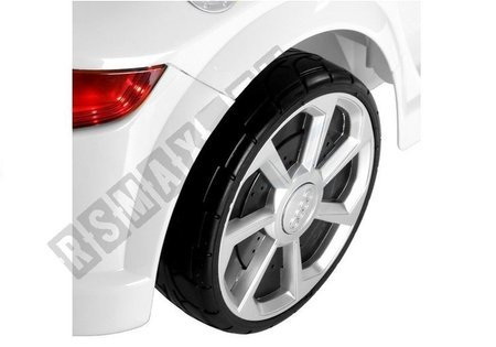Kinderfahrzeug Audi TT RS Quattro Weiß Ledersitz Auto 2x45W EVA Reifen