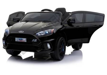 Kinderfahrzeug Ford Focus RS Schwarz lackiert 5-Punkt-Sicherheitsgurte