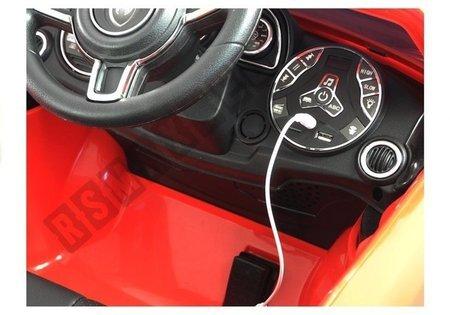 Kinderfahrzeug HL1558 Rot 2,4G FM USB SD Ledersitz Kinderfahrzeug