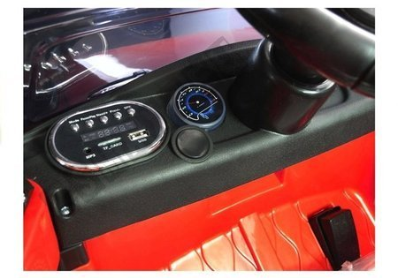 Kinderfahrzeug HL1638 Rot Ledersitz EVA-Reifen LED Frontscheinwerfer Fahrzeug