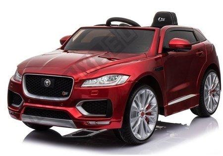 Kinderfahrzeug Jaguar F-Pace Rot lackiert EVA-Reifen Ledersitz 2x45W Auto