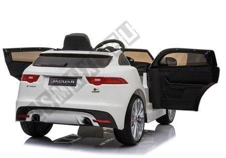 Kinderfahrzeug Jaguar F- Pace Weiß Ledersitz EVA-Reifen Auto