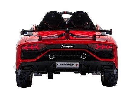 Kinderfahrzeug Lamborghini Aventador Rot Ledersitz EVA-Reifen Auto