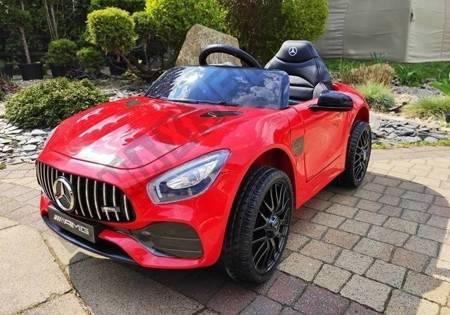 Kinderfahrzeug Mercedes AMG GT R Rot 2x45W EVA-Reifen 2.4G Ledersitz Fahrzeug