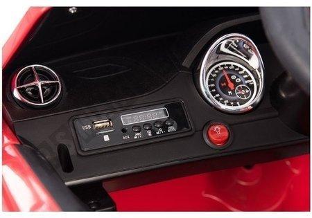 Kinderfahrzeug Mercedes SL Rot Ledersitz EVA-Reifen LED Frontscheinwerfer Auto