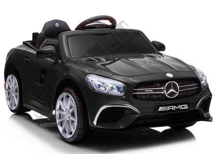 Kinderfahrzeug Mercedes SL63 Schwarz EVA-Reifen Ledersitz 2x45W Elektroauto USB