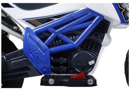 Motorrad Cross J518 Blau EVA-Reifen LED Frontscheinwerfer Fahrzeug 2 Gänge 2x35W