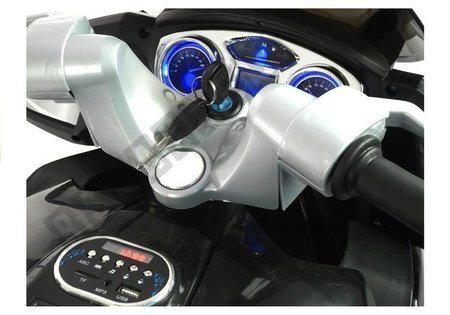 Motorrad HZB118 mit Akku Rot 45W LED Frontscheinwerfer MP3, USB, SD Motorrad