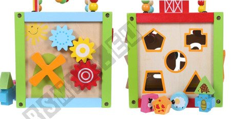 Pädagogische Kinder Holzwürfel 5 in 1 ECOTOYS