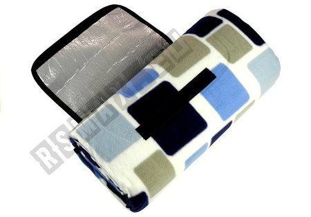 Picknickdecke 150x200 blau-weißes quadratisches Muster