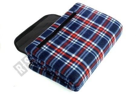 Picknickdecke 150x200 kariert dunkelblau-rot weiches Material Campingdecke
