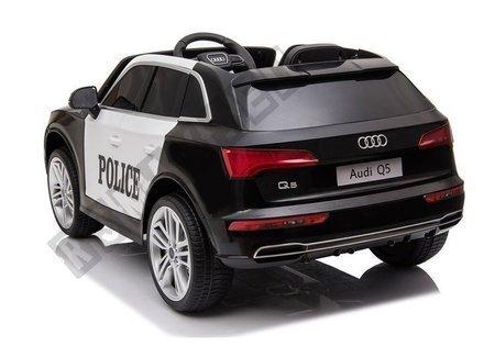 Polizeiauto Audi Q5 Schwarz Ledersitz EVA-Reifen Stoßdämpfer 2x45W