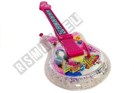 Set Kindergitarre mit Mikrofon und Brille Pink