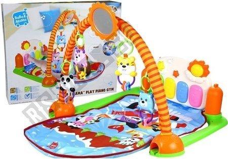 Spieldecke Lerndecke Krabbeldecke Set Spielzeug für Baby 4 bunte Rasseln