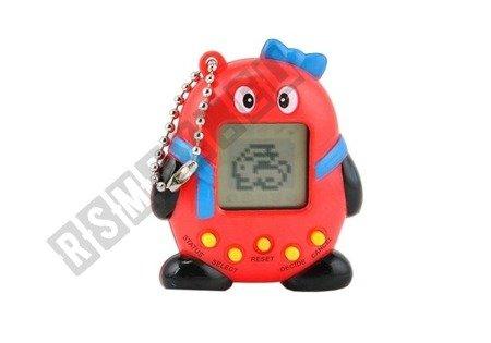 Tamagotchi Electronic Animal Egg Red mit Bogen
