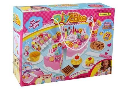 Torte Geburtstagsparty Kuchen Set 75 Elemente Leckerbissen Teller Besteck Set