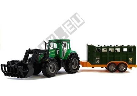 Traktor mit Anhänger Green Cow