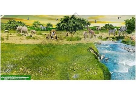 Żyrafy Figurki Edukacyjne Rodzina 3 sztuki + Tło Afryka