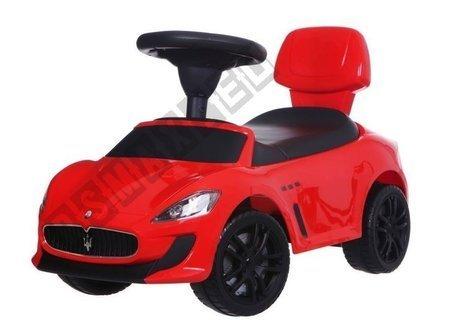 Autko jeździk chodzik pchacz Maserati czerwony