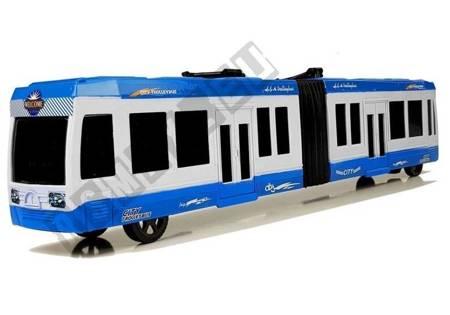 Autobus Przegubowy z Napędem Frykcyjnym Niebieski