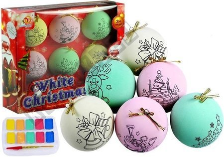 Bombki świąteczne do malowania