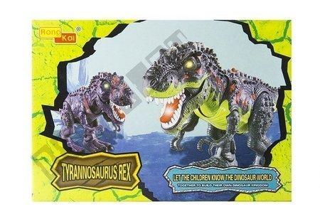 Dinozaur Na Baterie Tyranozaur Rex Chodzący Zielony