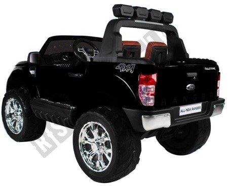 Duże auto na akumulator Ford Ranger 4x4 czarny VIP