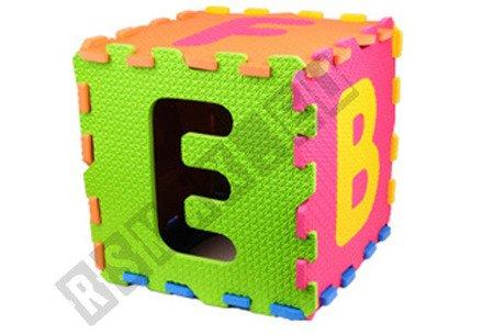Duże puzzle piankowe 26 elementów 30x30cm