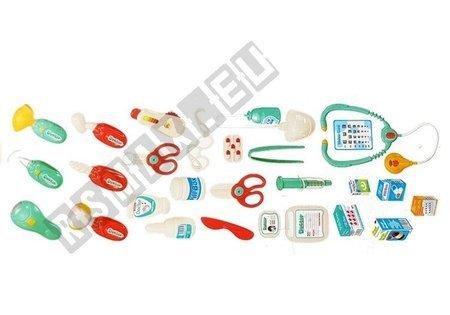 Duży Zestaw Lekarski Stolik Gabinet 27 Elementów