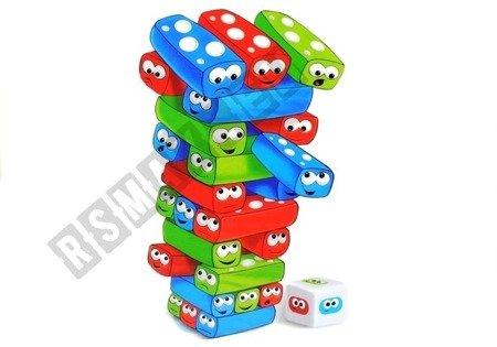 Gra Zręcznościowa Wieża Jenga z Klockami Robakami