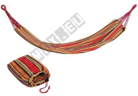 Hamak bez listwy duży 260x160cm  kolorowe paseczki