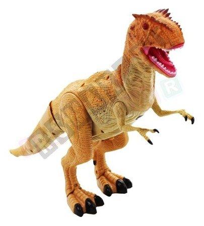 Interaktywny dinozaur T-REX zdalnie sterowany brąz