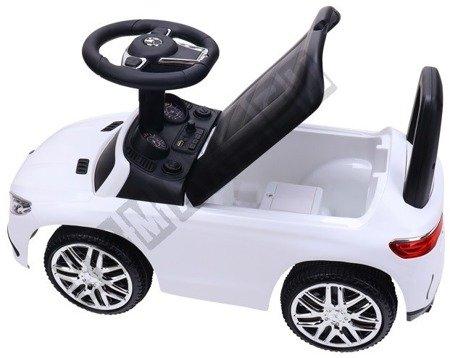 Jeździk Mercedes GLE63 Coupe pchaczyk biały