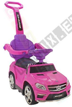 Jeździk, pchacz, bujak: Mercedes GL63 AMG różowy