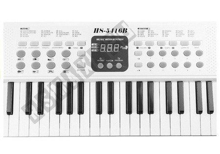 Keyboard Organy HS5416 54 Klawisze Biały 70 cm