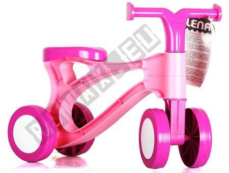 Mini rowerek do odpychania jeździk różowy