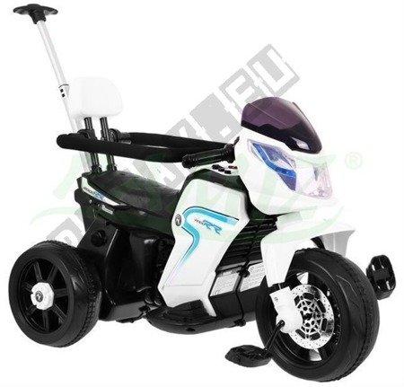 Pojazd Motorek Rowerek Pchaczyk 3w1 biały