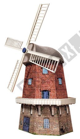 Puzzle 3D Wiatrak Holenderski 216 elementów