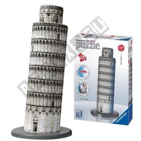 Puzzle przestrzenne 3D Krzywa wieża 216 elementów