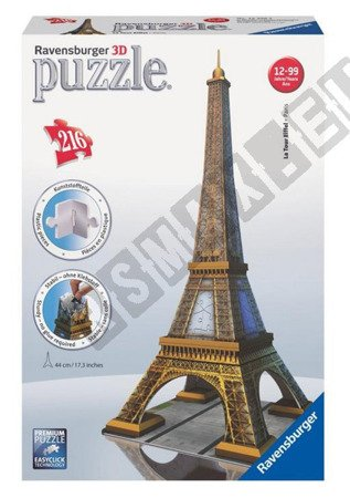 Puzzle przestrzenne 3D Wieża Eiffla 216 elementów